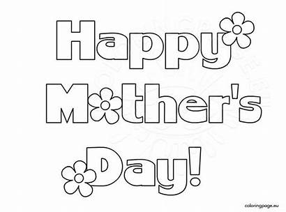 Happy Printable Card Mother Mothers Coloring