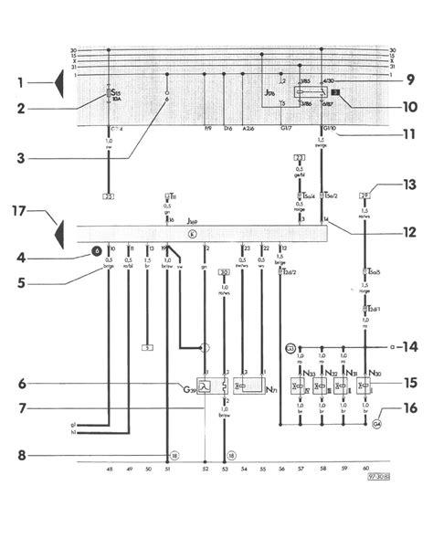 Volkswagen Alarm Wiring Diagram by Volkswagen Workshop Manuals Gt Golf L4 1 9l Dsl Turbo Ahu