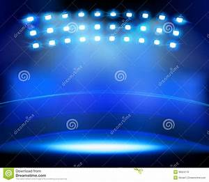 Stadium spotlights vector illustration stock photo