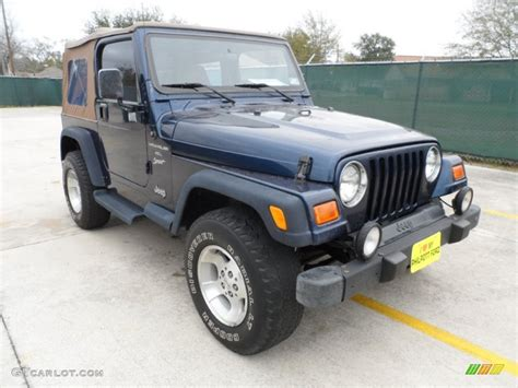 patriot jeep blue 2000 patriot blue pearl jeep wrangler sport 4x4 60181597