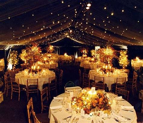 nighttime outdoor wedding reception w lights bonus if