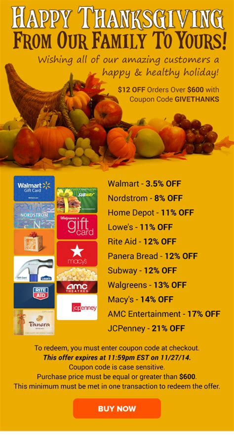 Click now to nordstromrack.com to snag this discounts. Happy Thanksgiving to YOU: Home Depot 11% OFF, Lowe's 11% ...