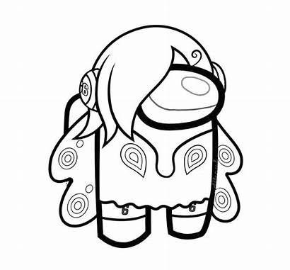 Among Coloring Dog Anime Printable Sheets Draw