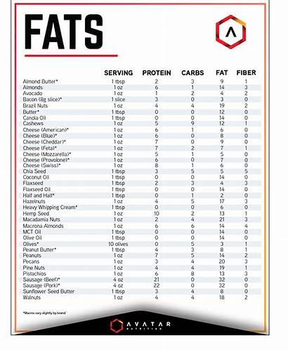 Lists Reference Quick Protein Medium Avatar Fats