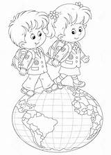 Globe Coloring Pages sketch template