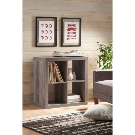 homes  gardens  cube organizer rustic gray