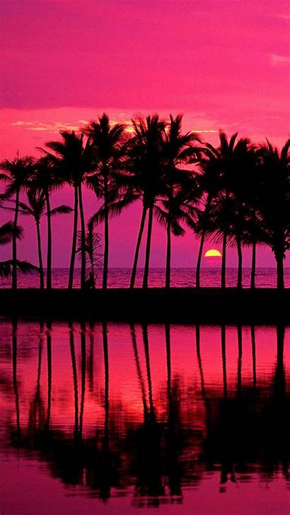 Sunset Hawaii Iphone Hawaiian Wallpapers Scenery Landscape