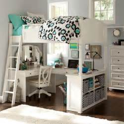 pottery barn full size loft bed vanity desk chelsea white
