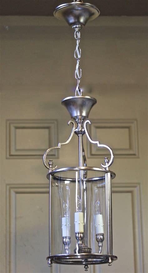 silver lantern pendant light italian neoclassic silver plate hall lantern pendant light