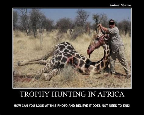 trophy hunting       people killing animals