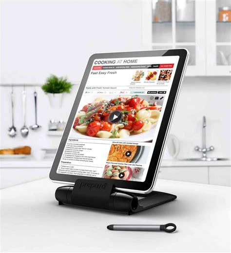 tablette tactile cuisine prepara lutrin noir pour tablette tactile avec stylet