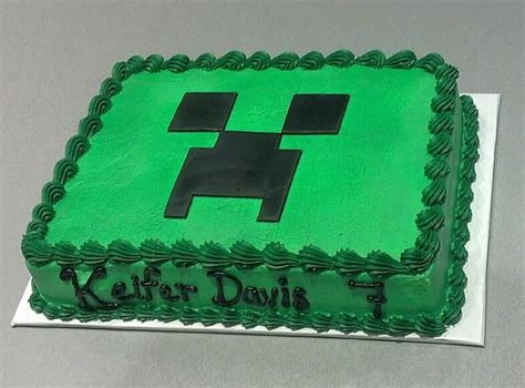 minecraft creeper cake order a plain green cake and make the creeper out of
