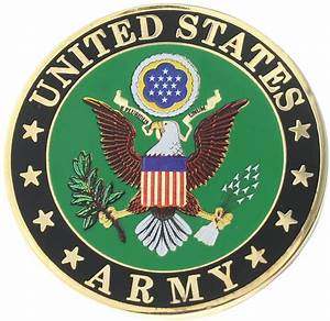 US Army E Pluribus Unum Eagle Clutch Back Round US ...