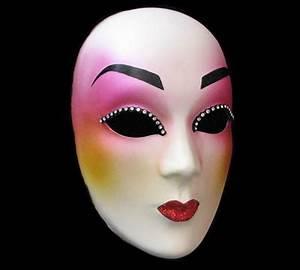 """Geisha Girl"" Pink & White Designer Masquerade Mask with ..."