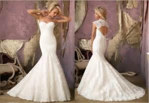 mermaid lace wedding dresses mermaid lace wedding dress with open backcherry cherry