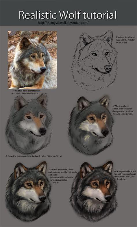 realistic wolf tutorial  themysticwolf  kitty