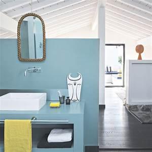 Couleur Mur Salle De Bain : quelle couleur de peinture choisir pour les murs d 39 une salle de bains marie claire ~ Dode.kayakingforconservation.com Idées de Décoration