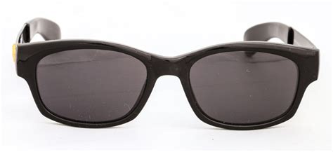 Vintage Gianni Versace Gold Medusa Wayfarer Sunglasses