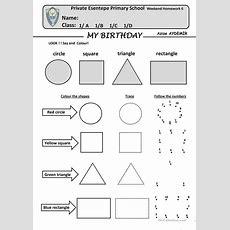 106 Free Esl Shapes Worksheets