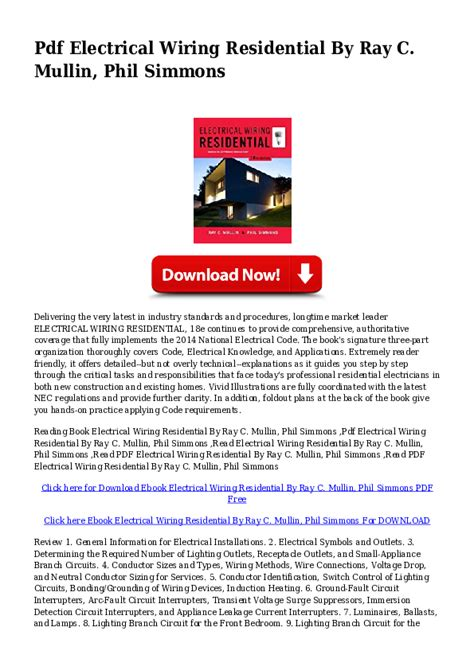 Pdf Electrical Wiring Residential Nella Carter