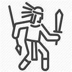 Aztec Mayan Maya Tribe Ancient Warrior Icon
