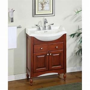 Amazoncom windsor 26quot narrow depth bathroom vanity base for Narrow depth bathroom vanity