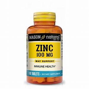 Mason Natural Zinc Supplement  100mg X 100 Tablets