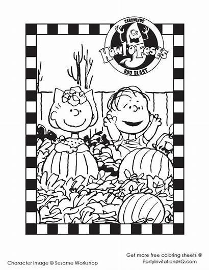 Coloring Halloween Pages Printable Brown Charlie Snoopy