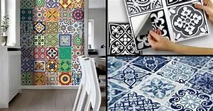 Adhésif Carrelage Cuisine : le carrelage adh sif carreaux de ciment un relooking ~ Premium-room.com Idées de Décoration