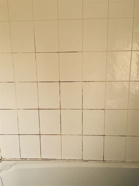 cleaning and sealing a mouldy ceramic tiled shower in