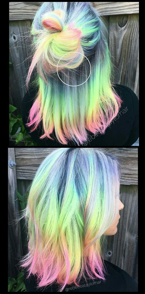 Pastel Rainbow Hair Rebeccataylorhair Curl Up And Dye