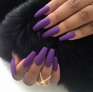 Purple Matte Nails | Pedicures | Pinterest | Matte nails ...