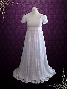 edwardian regency style empire waist lace wedding dress With regency style wedding dress