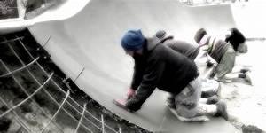 Ruční hlazení betonu