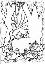 Cave Coloring Bats Pages Three Halloween sketch template
