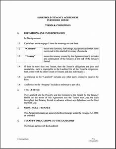 12 month tenancy agreement template tenant contract With 12 month lease agreement template