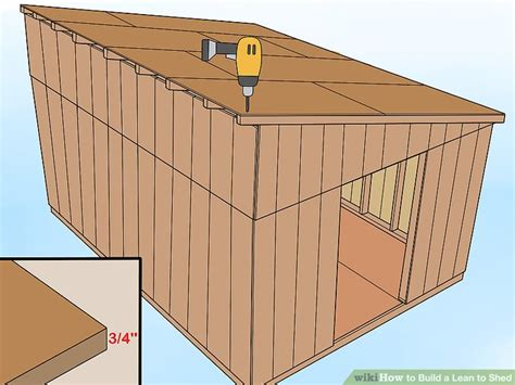 build  lean  shed  pictures wikihow