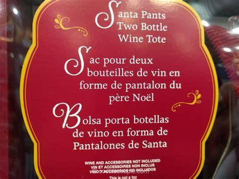 Santa Pants Wine Tote