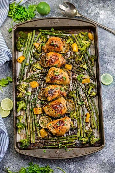 pan sheet chicken lime honey recipes easy dinner meals recipe asparagus stove meal prep standing tender don especially weeknights busy