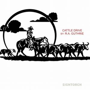 Cattle Drive : SignTorch, Turning images into vector cut ...