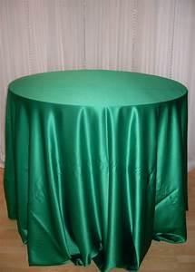 Chair Decor » Emerald Green Satin Tablecloth