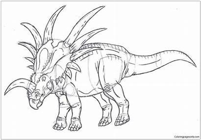 Coloring Dilophosaurus Styracosaurus Sketch Pages Dinosaur Drawing