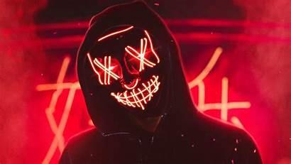 Neon Mask Guy 4k Desktop