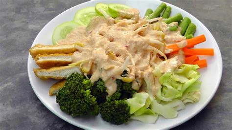 indonesian gado gado vegan vegetarian recipe youtube