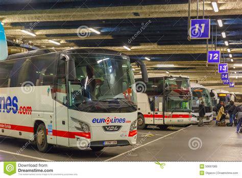 coach station eurolines gallieni porte editorial image image 50697085
