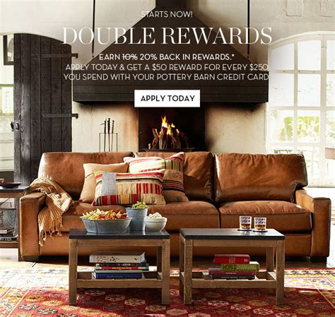pottery barn credit pottery barn rewards in stores apply for