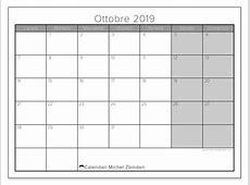 Calendari ottobre 2019 LD