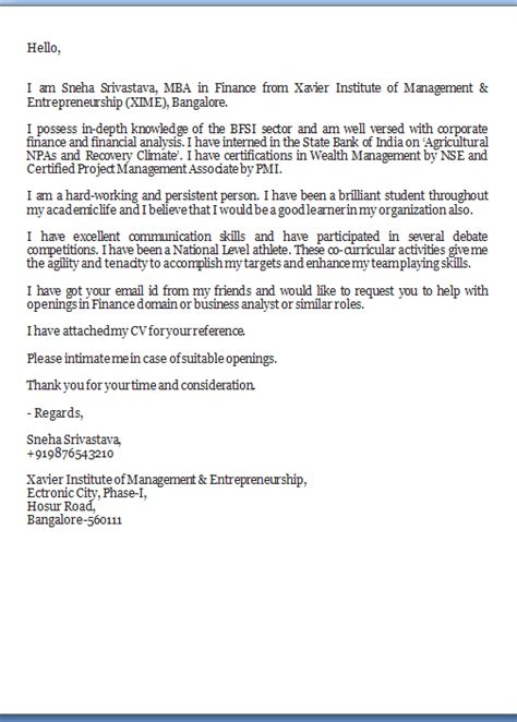 fax cover letter sle
