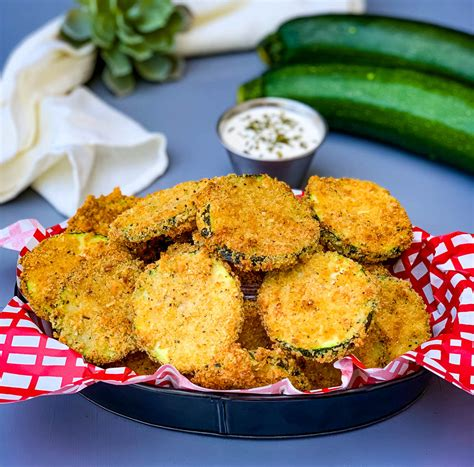 fryer zucchini air chips easy fried healthy breading ranch breadcrumbs without
