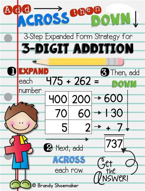 digit addition expanded form strategy expanded form